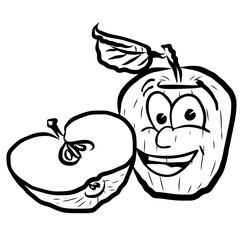 Laughing Apple Vector Illustration Fruits