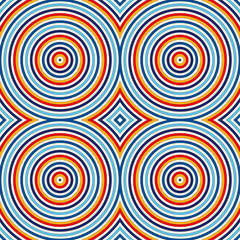 Seamless pattern with symmetric geometric ornament. Abstract background with bright round vortexes. - 115804872