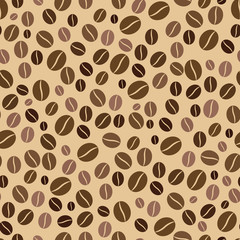 seamless pattern coffee beans on a light background