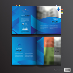 Magazine template design. pages layout