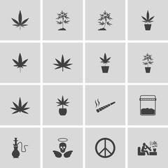 marijuana, Cannabis icons. vector illustration eps 10.