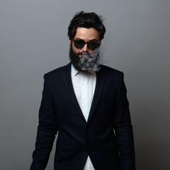 Mysterious man smoking