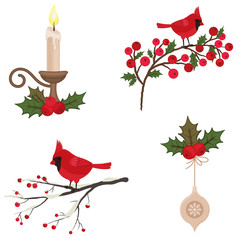 Beautiful Christmas icons set