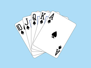 Playing Cards - Royal Flush of Spades