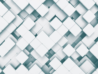 Abstract Square Shapes Pattern White Background