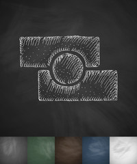 photo editor icon. Hand drawn vector illustration