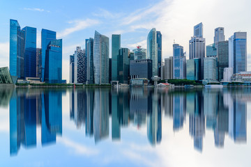 Singapore city skyline of business district downtown in daytime. Wall mural