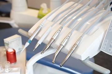 Closeup photo of dental equipments