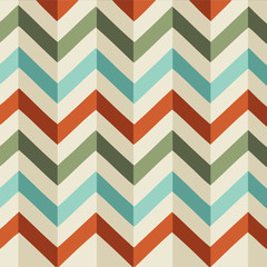 Vector Retro Chevron Pattern Illustration