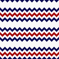 Abstract red blue gray zig zag seamless pattern