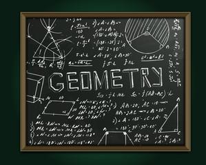 Geometry blackboard image