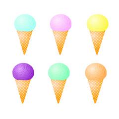 color ice-cream