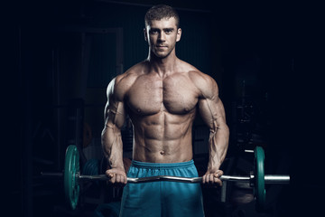 Male bodybuilder, fitness model
