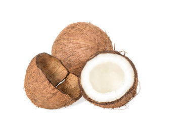 Coconut and empty shell