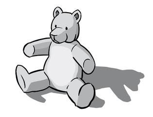 Teddy Bär sitzend