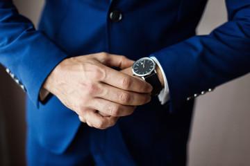 businessman clock clothes