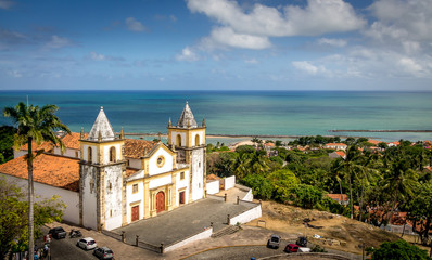 High view of Olinda and Se Cathedral - Pernambuco, Brazil
