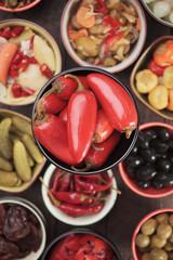 Pickled red jalapenos