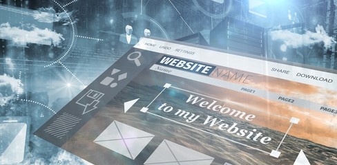 Composite image of composite image of website interface