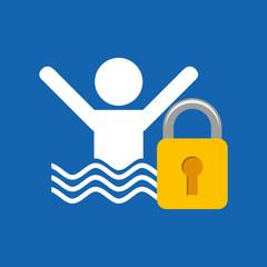 man swimming icon