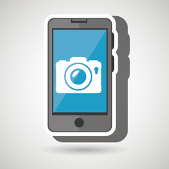 smartphone camera isolated icon design, vector illustration  graphic