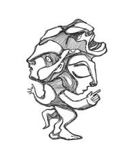 Weird human form illustration