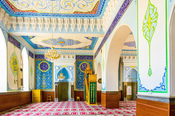 The small prayer hall of Tbilisi Mosque