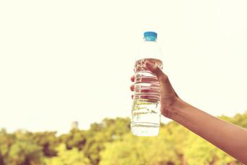 Handle water bottle vintage background