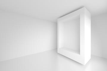 3d White Empty Room