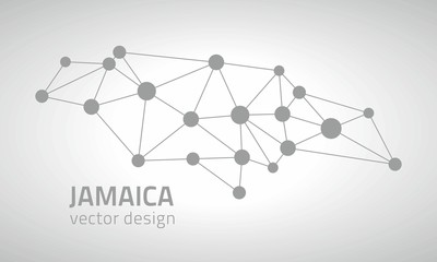 Jamaica grey vector triangle contour map