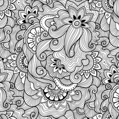 Floral background in zen-tagle style.