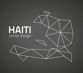 Haiti black vector map