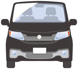 自動車正面のイメージイラスト(黒色)