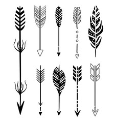 Set of Cute Hipster Arrows
