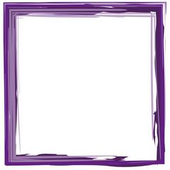 lila Rahmen Quadrat gemalt