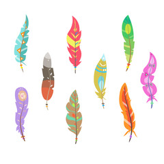 Colored Feathers Set