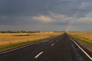 Garden Poster Brown Hope on the road in form of rainbow