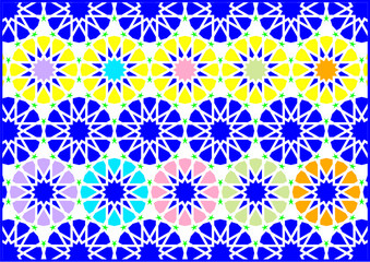 Geometric figures of styles arabic and oriental very colouring all colors.
