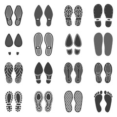 Shoes Footprint Icons