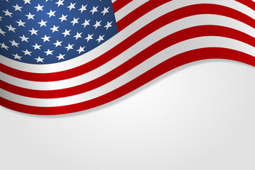 American flag vector illustration stylish design