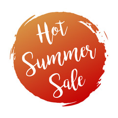 Hot Summers Sale grunge style red colored on white background