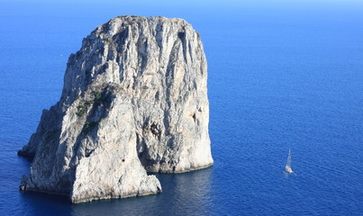 Faraglioni Cliffs, Mediterranean Sea Coast, Capri, Italy, Europe