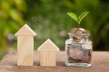 Saving money concept, growing business, The concept of financial