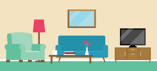 Background Illustration Of Living Room