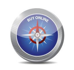 buy online compass sign illustration design