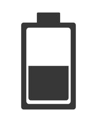 flat design battery symbol icon vector illustration