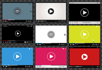Set of video player interfaces