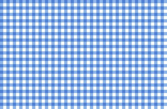 blau weiß Karo Tischdecke Muster kariert