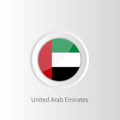 Vector circle flag of United Arab Emirates, UAE