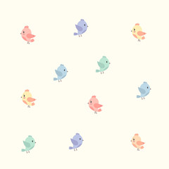 background with colourful birds